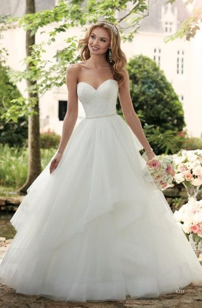 Stella york 6315 new spring 2017 ballgown layered and lace wedding dress