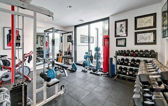 Top 40 best home gym floor ideas fitness room flooring designs