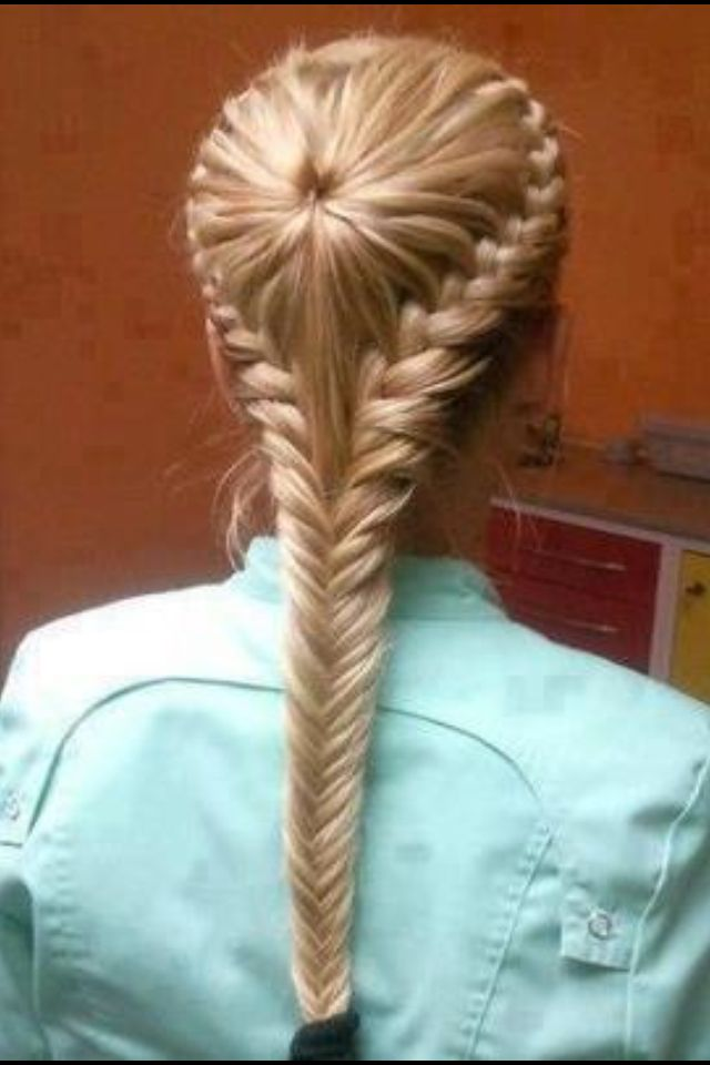 Ponytailed Inside Out Braid With A Herringbone Finish