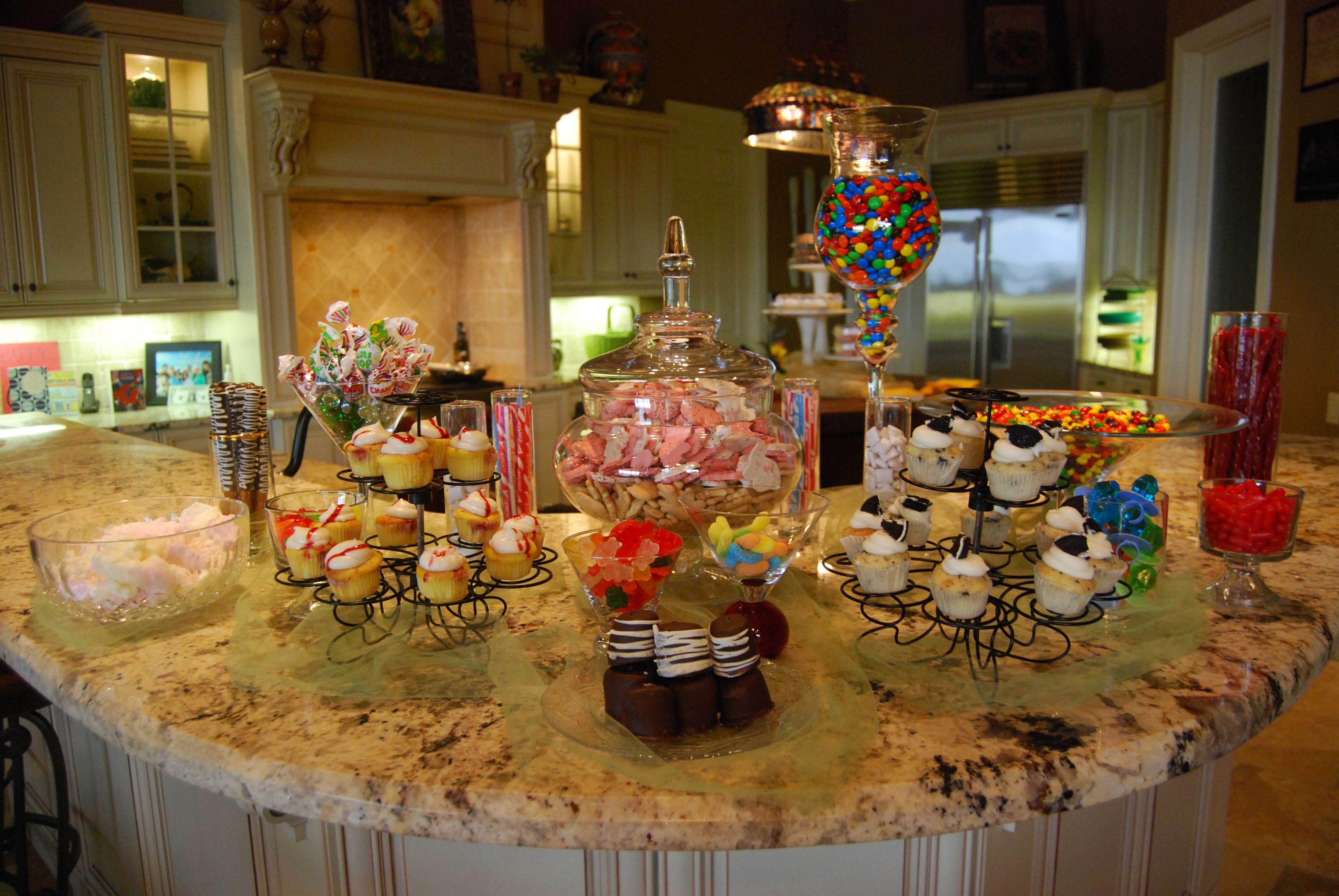 Candy bar for pre prom party sugar and spice pinterest for Food bar party