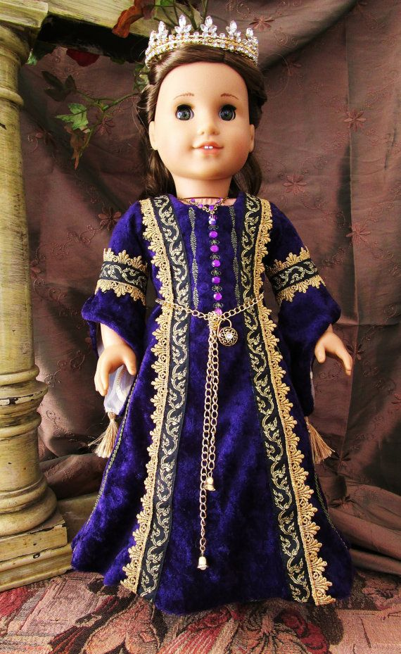 Renaissance Royal Gown For American Girl Doll by HiddenDoorStudio ...