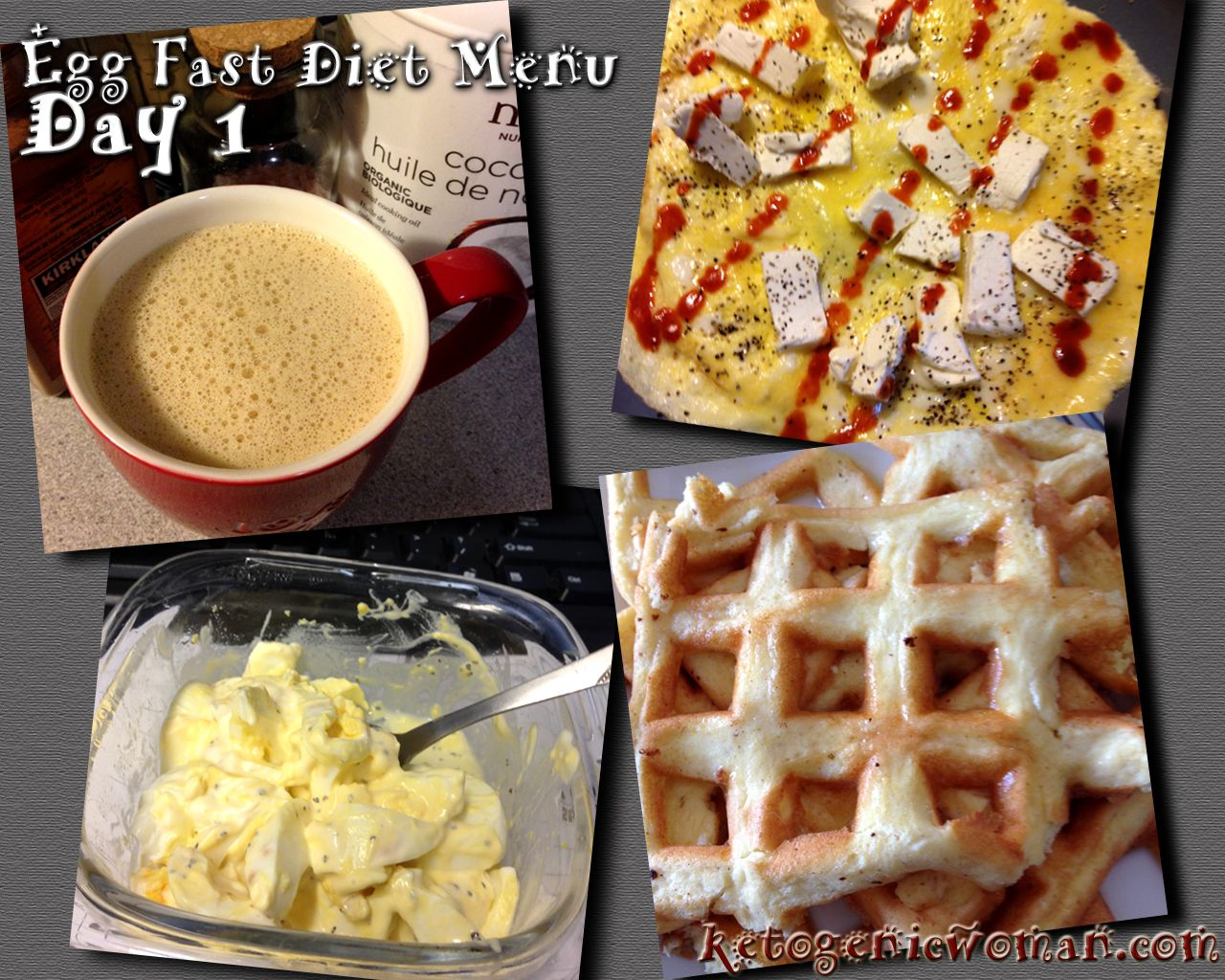 Day 1 Of The Egg Fast Diet Menu Plan #eggfast #keto