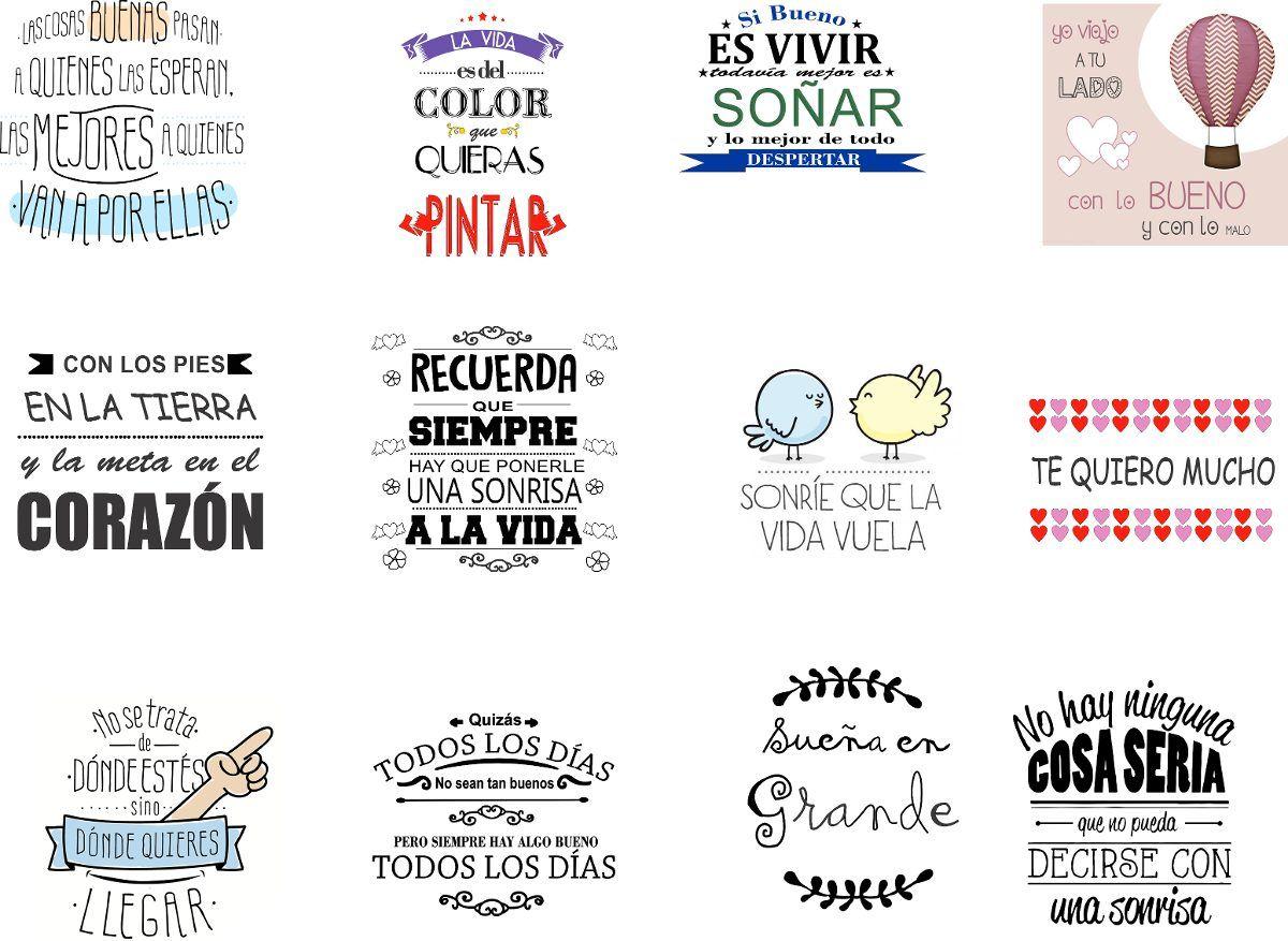 Stickers Con Frasi.Etiquetas Para Frascos Frases Decoracion Wall Stickers