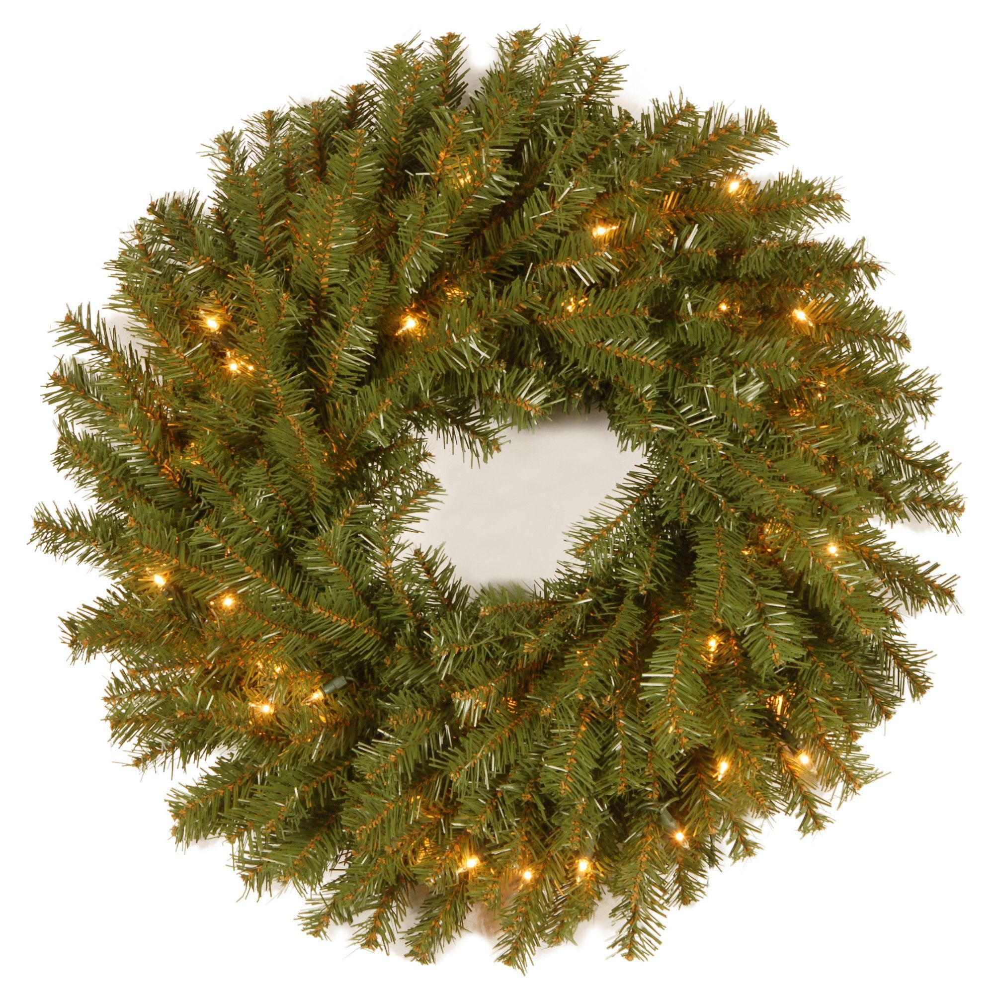 Pre Lit Christmas Tree Fuses: Norwood Fir Pre-Lit Wreath With 50 Clear Lights