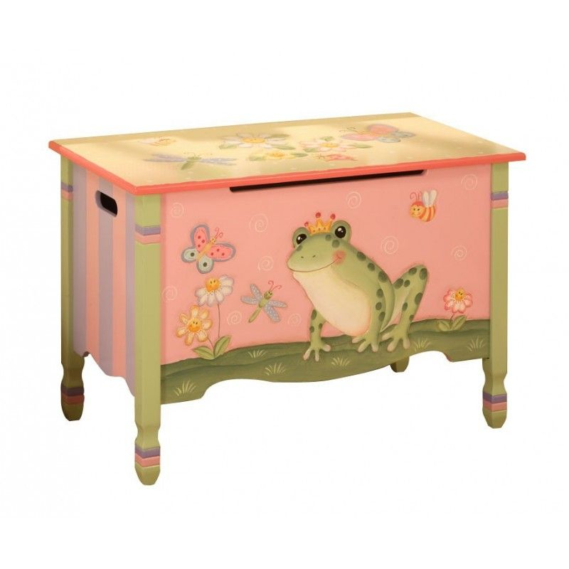 whimsical painted metal storage trunks home toy boxes magic garden hand painted toy chest
