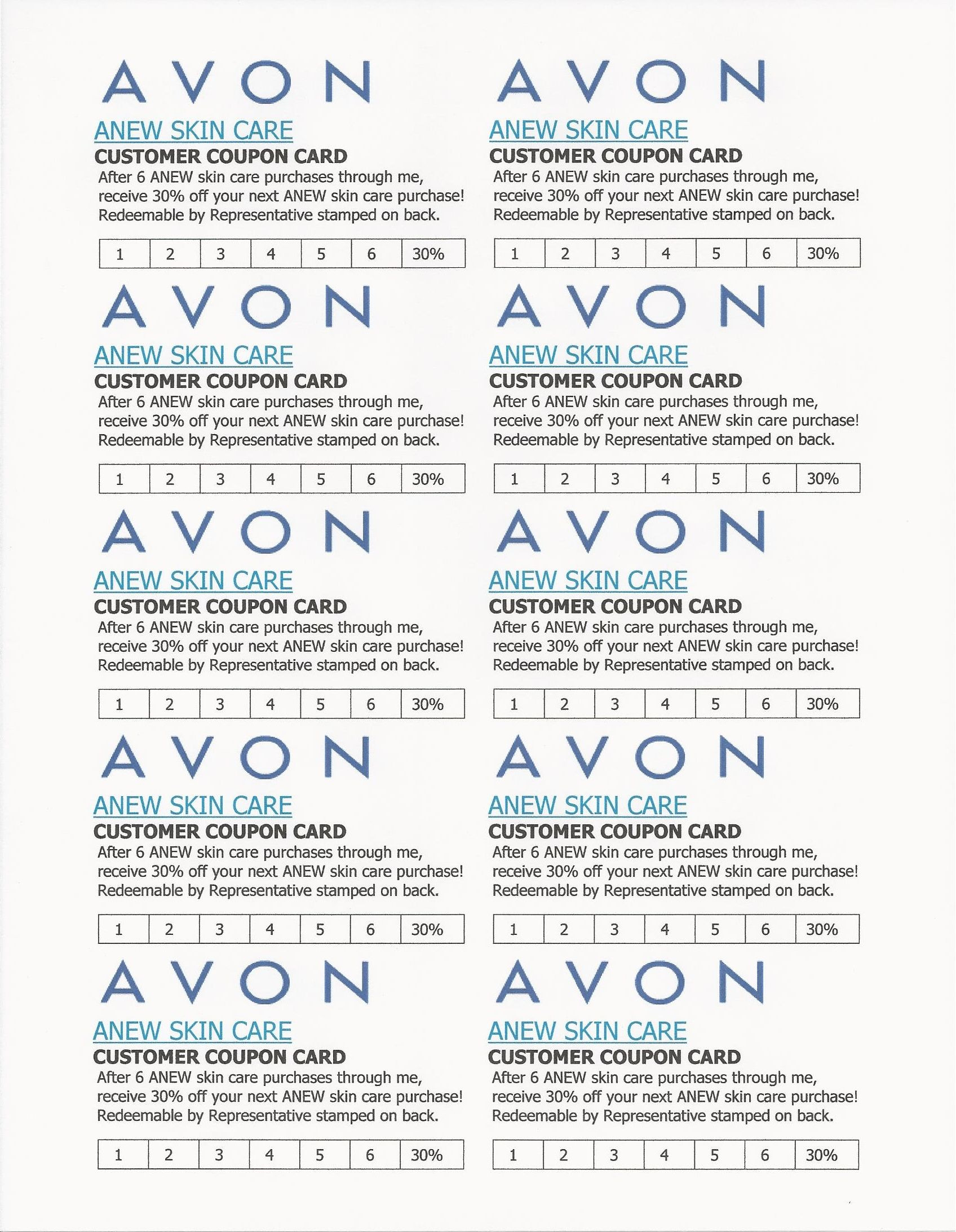 Avon flyers charts avon avon anew avon marketing