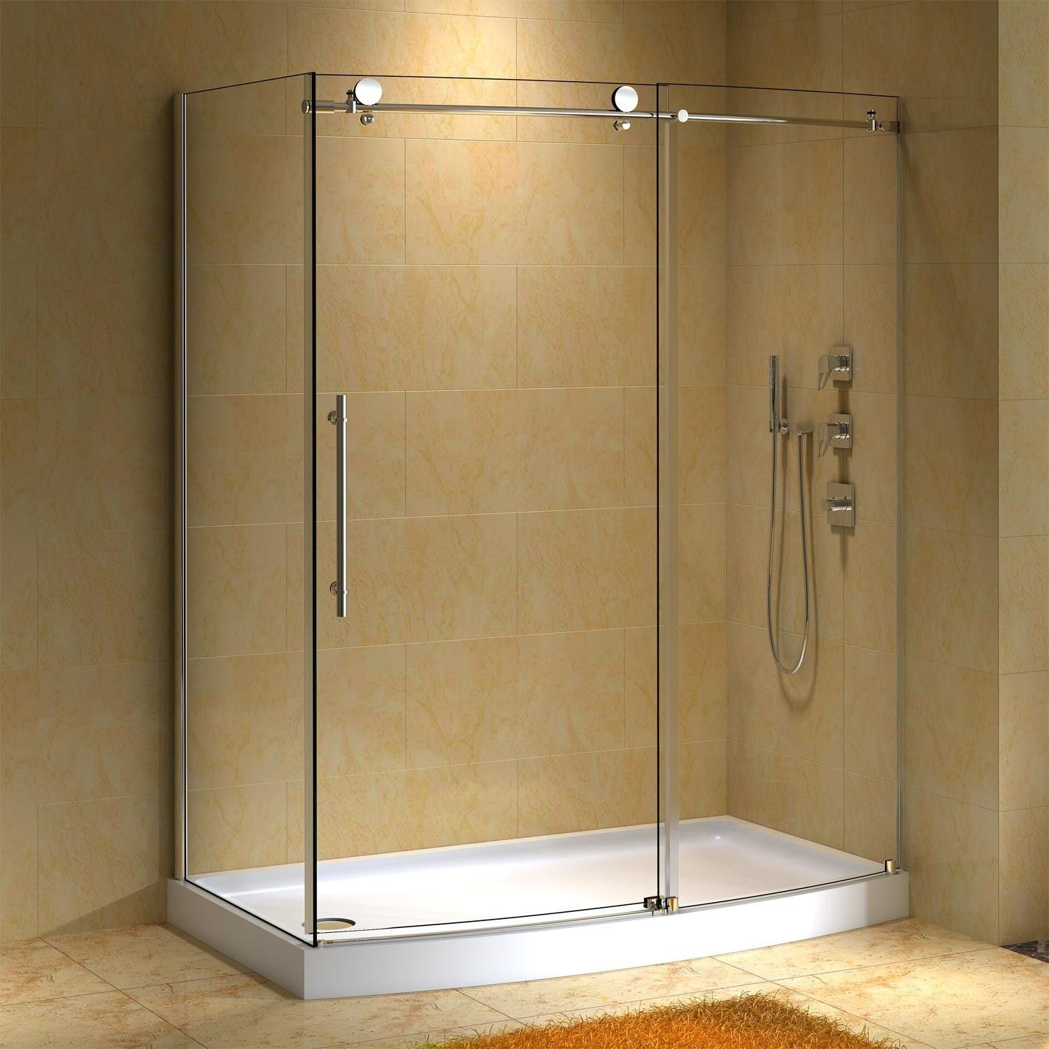 58 X 30 Sloan Corner Shower Enclosure With Arched Front With