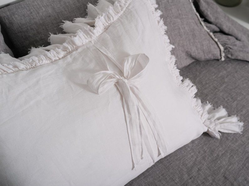 Fancy throw pillow covers Frayed edge