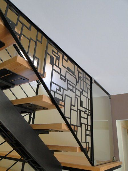click to close staircases pinterest escaliers metal garde corps et rampe escalier. Black Bedroom Furniture Sets. Home Design Ideas