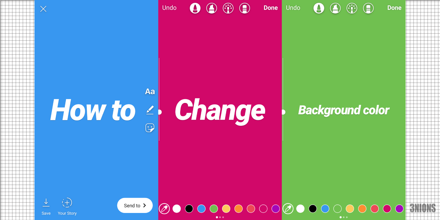 How To Change Background Color On Instagram Story Colorful Backgrounds Change Background Instagram Story