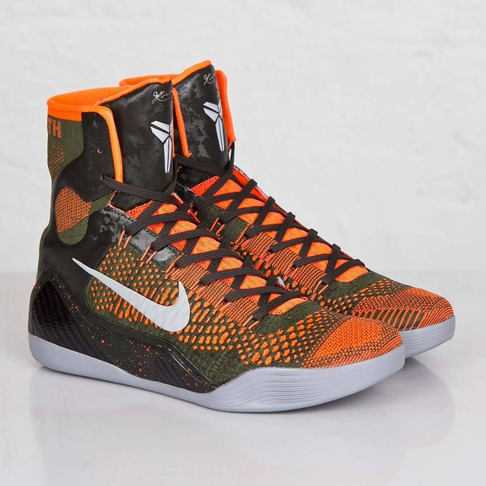 714881eb4d3d Nike Kobe IX 9 Elite Strategy Sequoia Green Silver 3M 630847-303 Black  Mamba S11  Nike  BasketballShoes