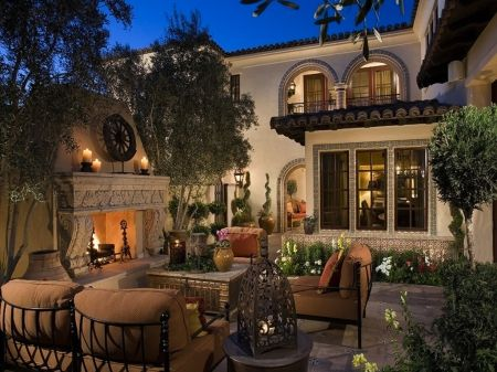 Luxurious Outdoor Patio living space mansion luxury rich