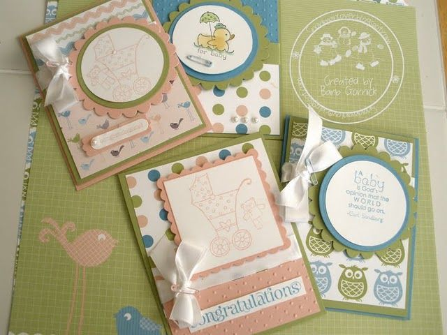 Cards, Stampin' Up, Baby Card