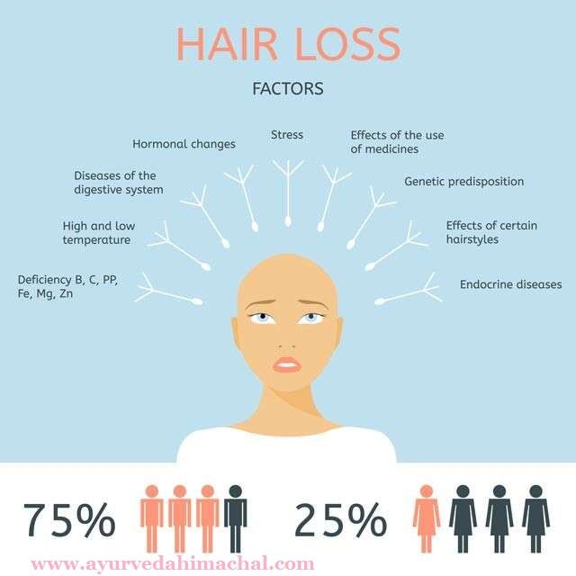 Hair Loss Factors and Ayurvedic Treatment For Hair Related Problems