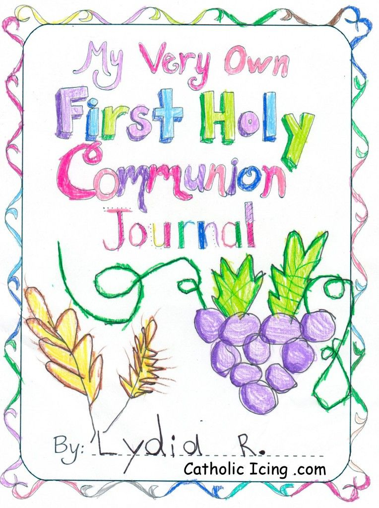 First Holy Communion Journal Printable Cover Gracia
