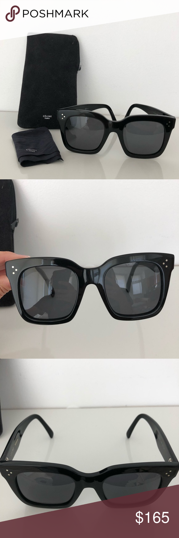 47ff81c593 Céline Tilda CL 4176 s Sunglasses Amazing oversized black Celine sunglasses.  Very minor scratches that you cannot see. Lenses are intact.