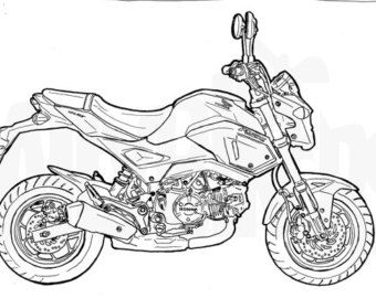 Honda Grom Colouring Page