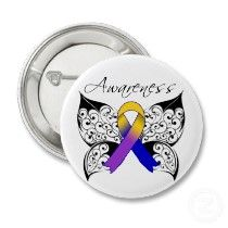 Tattoo Butterfly Awareness  Interesting idea for a tattoo for cancer awareness with the color associated with the type of cancer.....example is bladder cancer