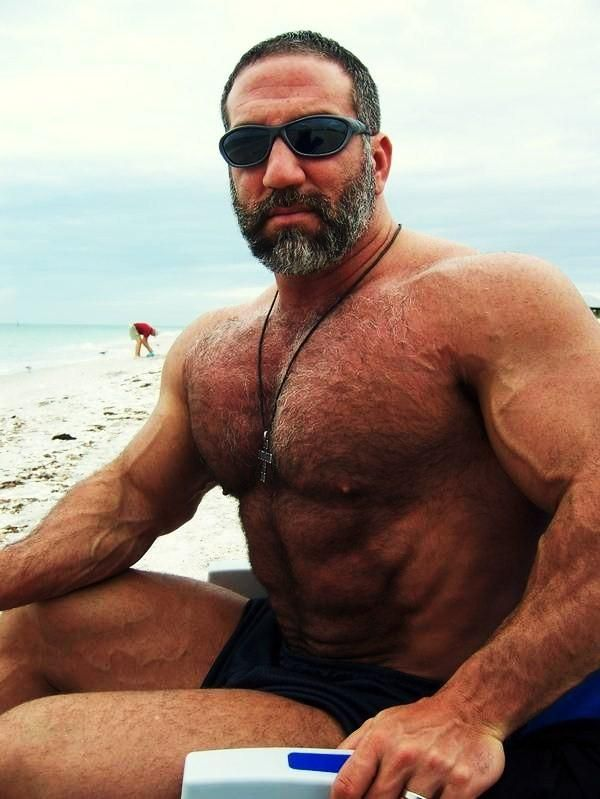 Masculine muscular hairy bear men