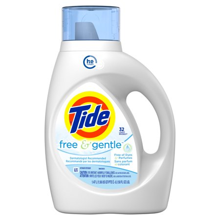 Household Essentials Liquid Laundry Detergent Tide Free Gentle