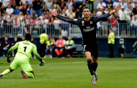 Cristiano Ronaldo Scores As Real Madrid Win La Liga After Victory Over Malaga