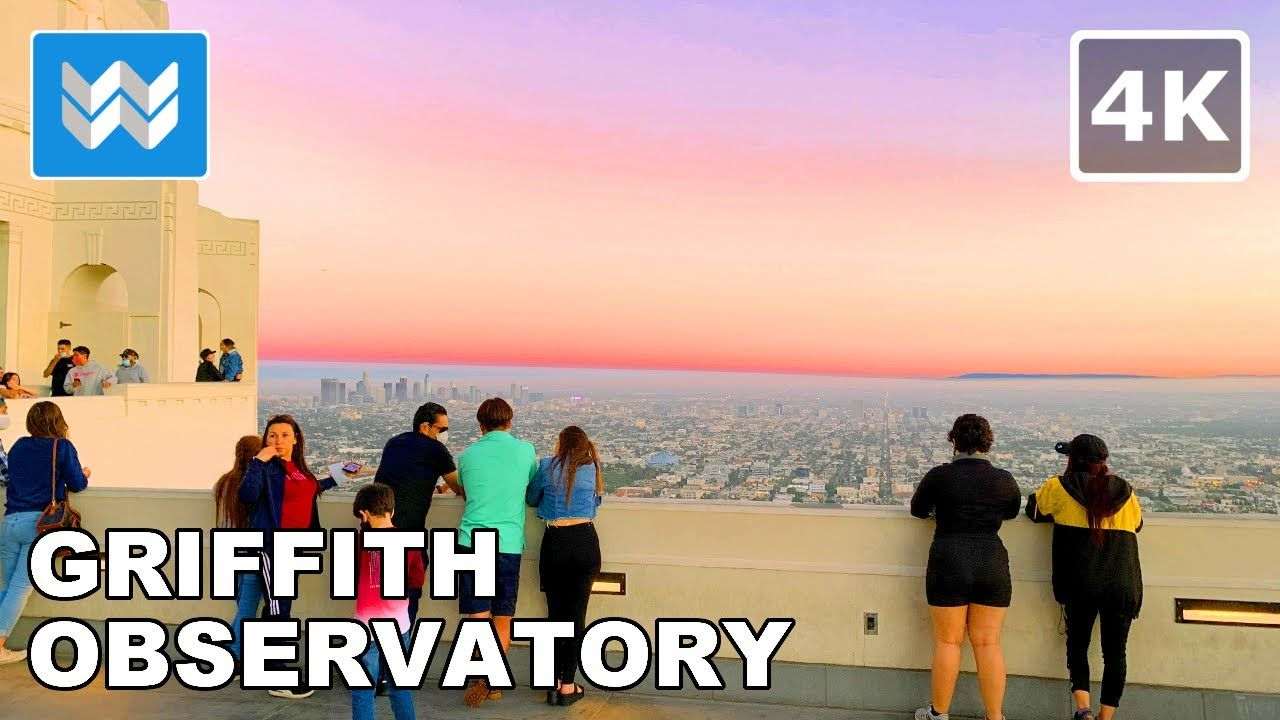 Epic Sunset At Griffith Observatory In Los Angeles California Usa 2020 Night Walking Tour 4k Yout In 2020 Night Walking Beautiful Sunset Griffith Observatory
