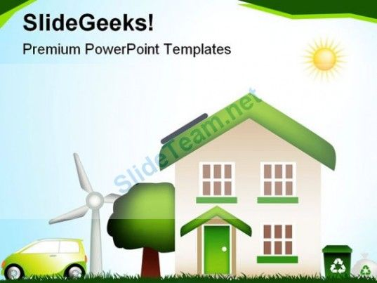 eco house environment powerpoint templates and powerpoint, Modern powerpoint