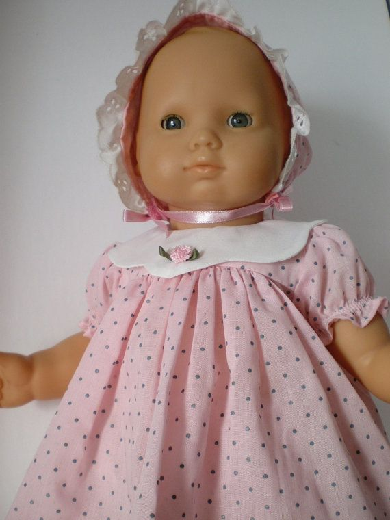 Bitty Baby Doll Clothes Polka dot DressBonnet by fashioned4you | AG ...