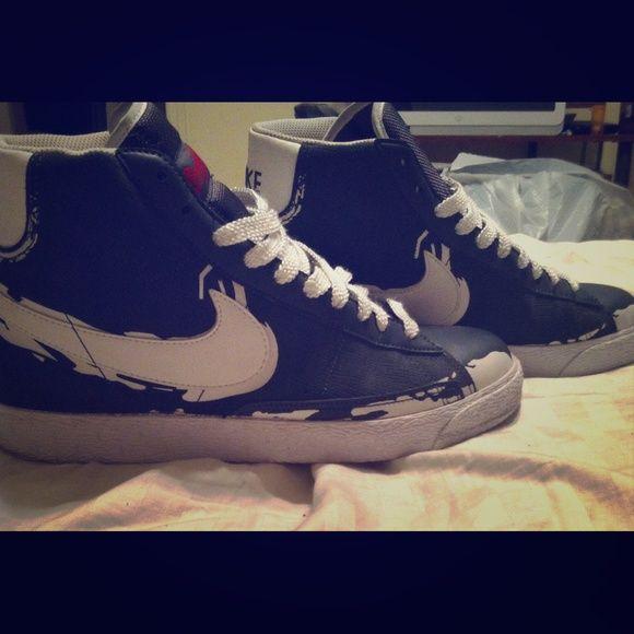 dc5dfaf91 Nike Blazer high  Dark Grey  Dark grey white from Jackie Robinson Brooklyn  shoe collection
