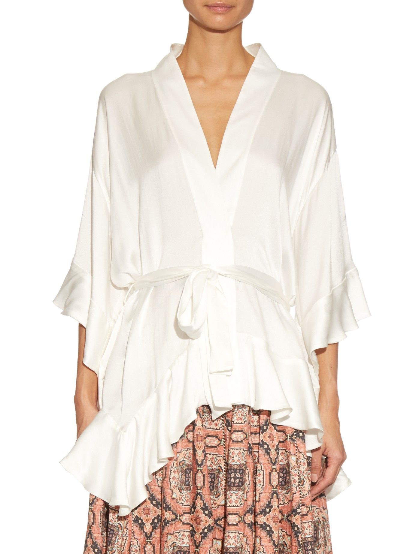Womens Empire Silk Twisted Wrap Top Zimmermann Discount Low Shipping DcGoj