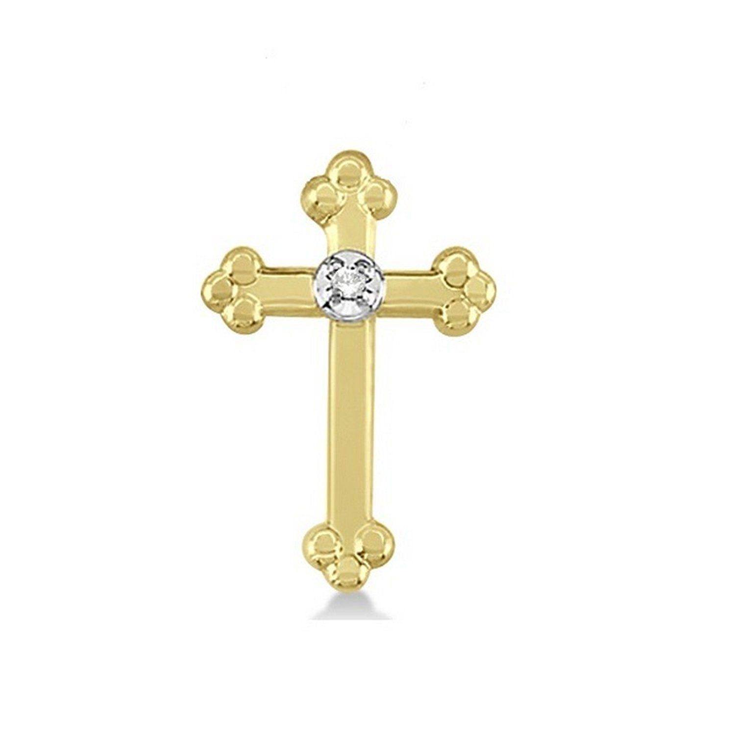 14k Gold Women's Diamond Cross Lapel Brooch Pin in Plain Metal -- You can get additional details at the image link.