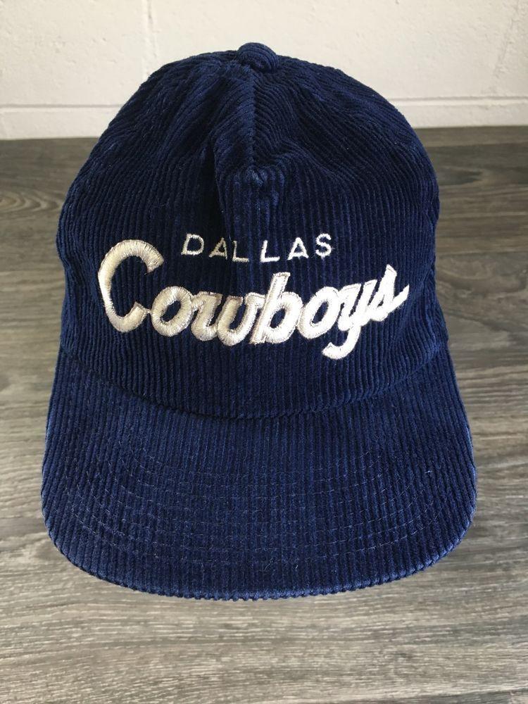 53d8a9192b7 Dallas Cowboys Corduroy Hat 90s VTG Adjustable Script Specialties NFL Cord  Cap  SportsSpecialties  Corduroy  dallascowboys  thecord  snap