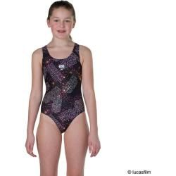 Photo of Speedo women's swimsuit Alv Digi Spbk Jf Black / pink, size 152 In Blk / blaze / papaya / wht, Size 152 In