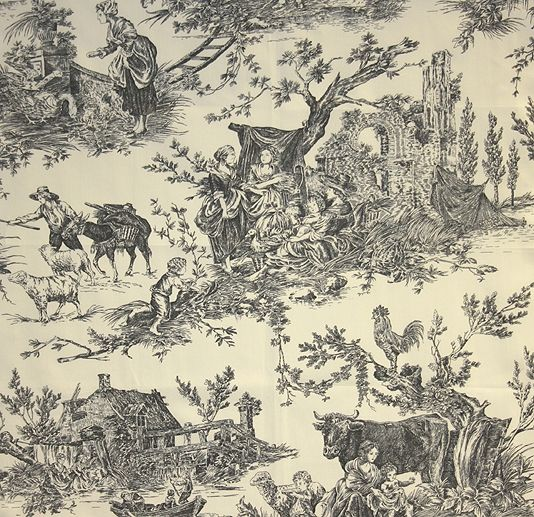 image detail for chateau de loir toile fabric pastoral scenic toile de jouy fabric in. Black Bedroom Furniture Sets. Home Design Ideas