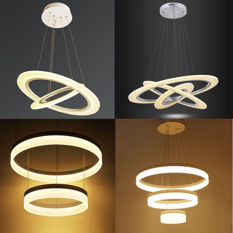 Details zu 60W-80W Warmweiß LED Kronleuchter Hängeleuchte