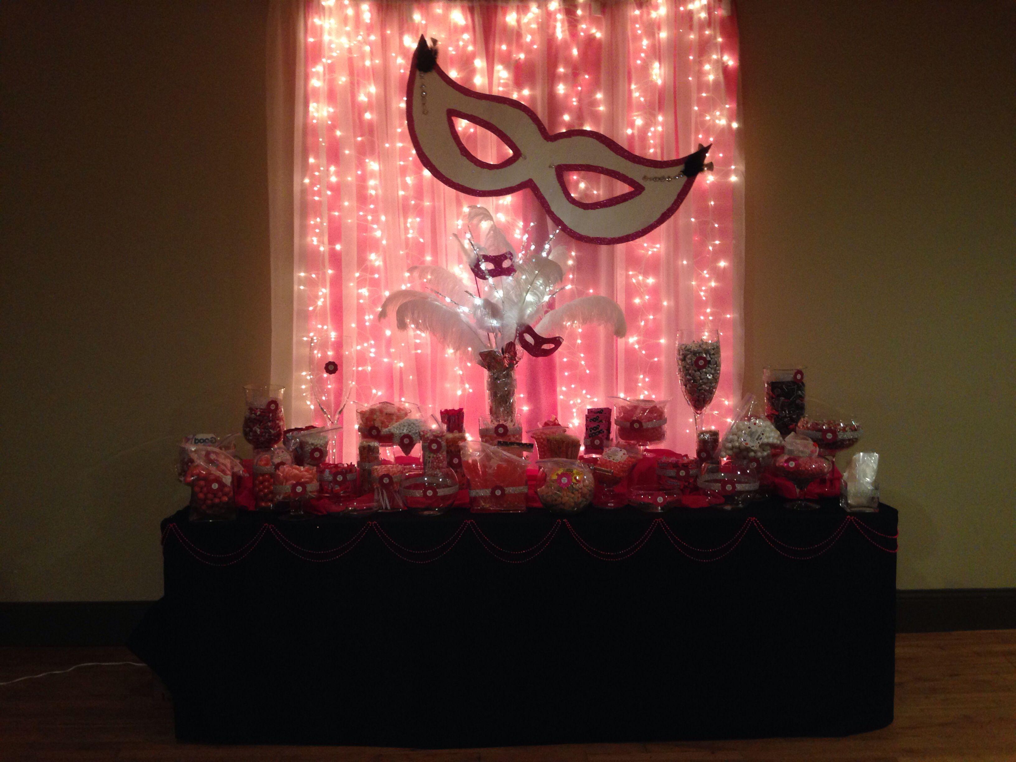 Masquerade party candy table party ideas pinterest - Mascaras venecianas decoracion ...