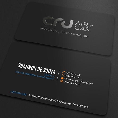 Cru Air Gas Business Card Design Project Business Card Contest Design Business Card Shannona Branding Design Logo Custom Business Cards Card Design