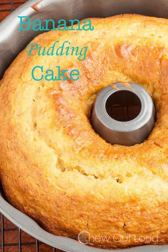 Banana Pudding Cake - Chew Out Loud #bananapudding