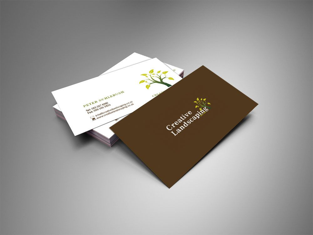 creative landscaping business cards