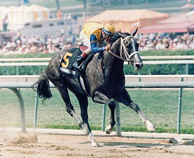 All Alone On The Lead In The Santa Anita Derby Winning