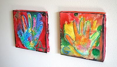 Really Cool Handprint Canvases Great Gift For Parents