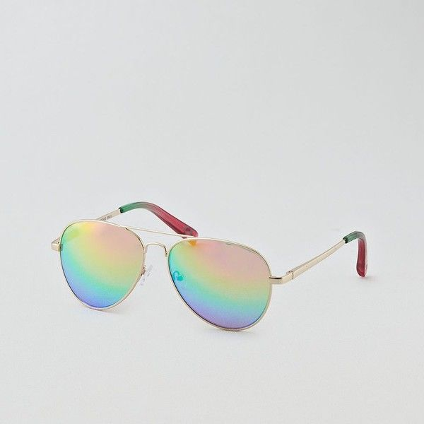 ec0cafe920 AE Rainbow Aviator Sunglasses (215 ZAR) ❤ liked on Polyvore featuring  accessories