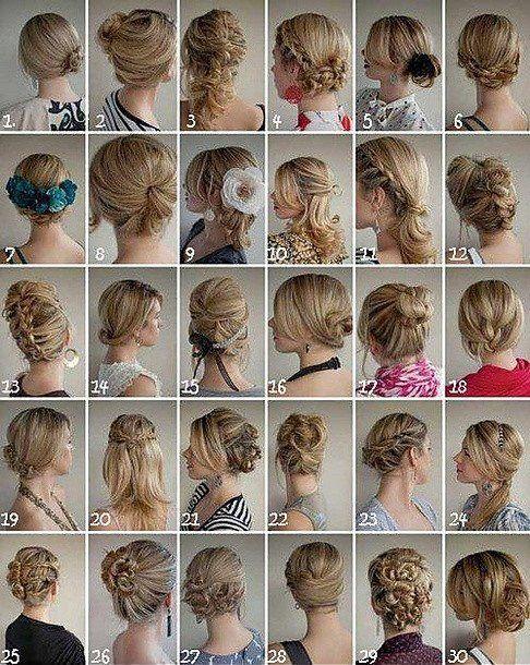 aff3702259d9 30 olika håruppsättningar för bröllop, fest och bal - 30 Frisyrer ...