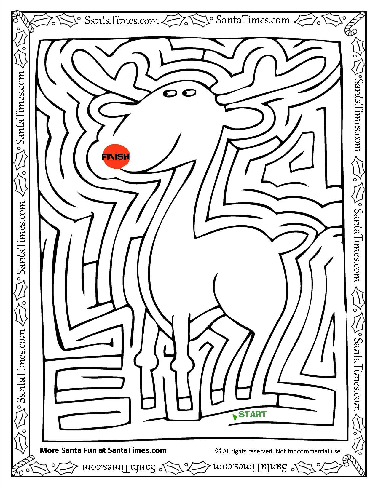 Rudolph The Red Nosed Reindeer Maze