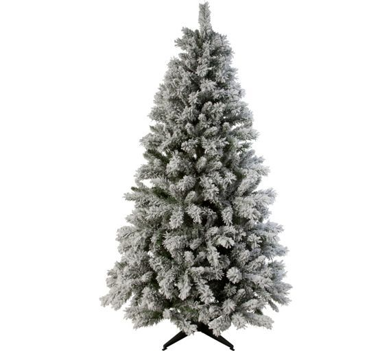 new product e25db 3125d Home 6ft Snow Covered Christmas Tree - Green | Flat updates ...