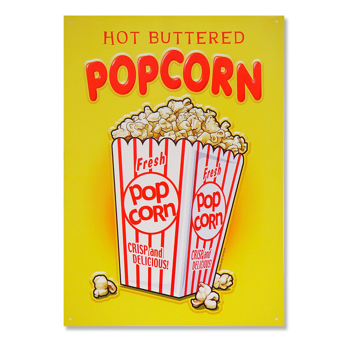 Hot Buttered Popcorn Snack Bar Metal Sign | Game rooms, Metals and ...