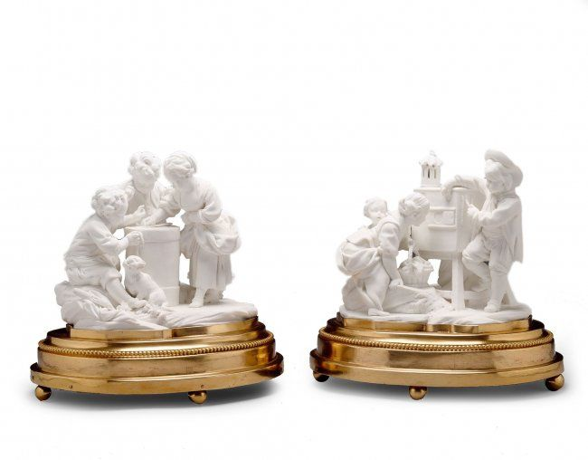 A Pair of Sevres Biscuit Figure Groups : Lot 32