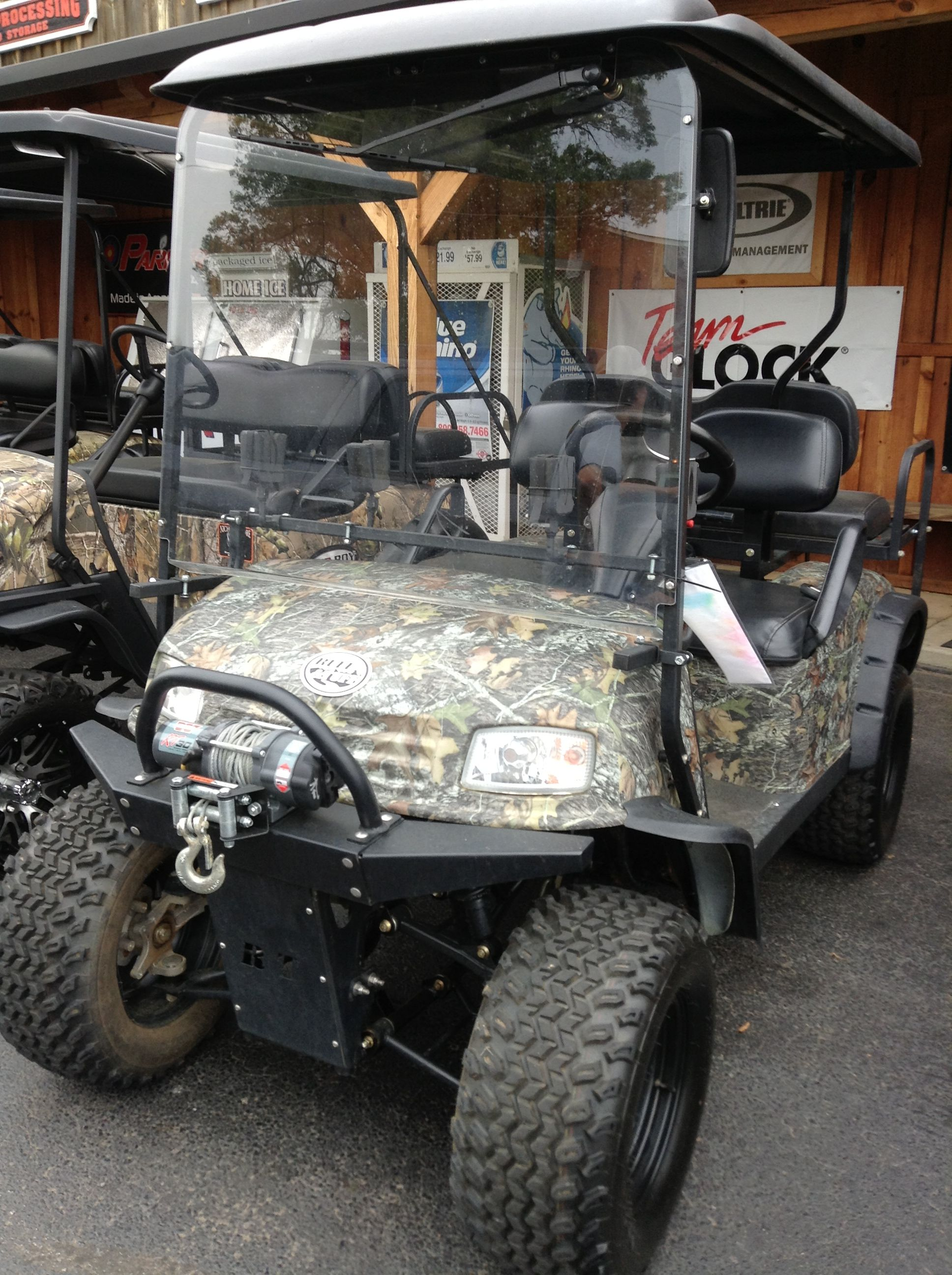 2009 Lsv Ruff Tuff Hunting Cart Equipped With Gun Rack Flip Seat