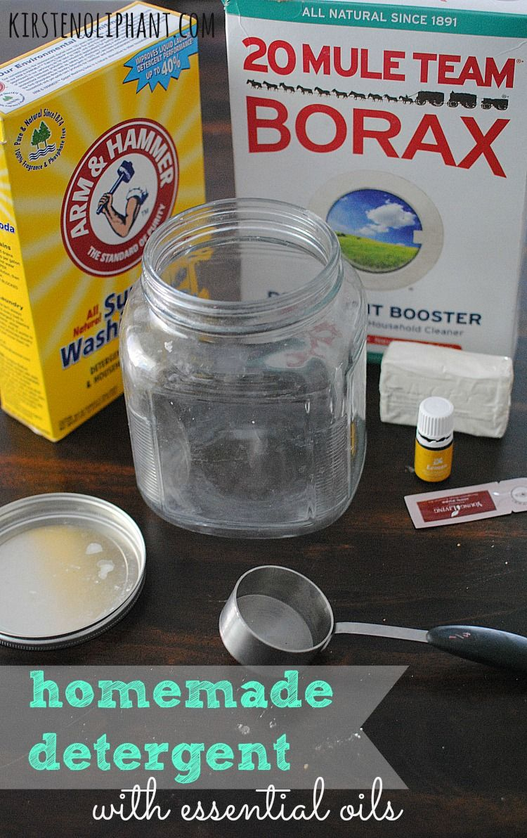 Homemade Detergent with Essential Oils Homemade