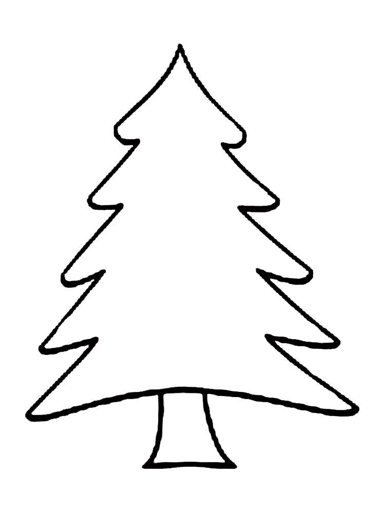 plain christmas tree coloring pages in 2020   Tree ...